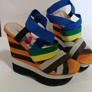 NWT Zigi Soho wedge sandals fits 6.5-7